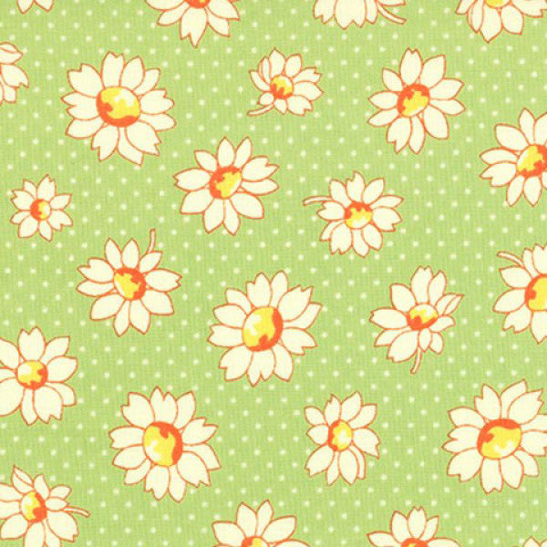 Lecien Retro 30s 2016 - Green Dotty Flower