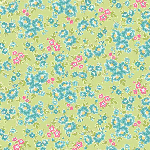 Tea Party - Makower - Floral Green