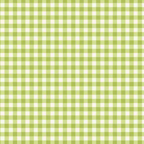 Tea Party - Makower - Green Gingham