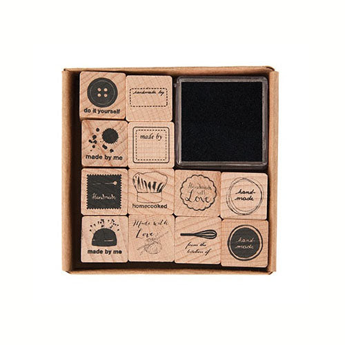 Handmade Wooden Stamp Set