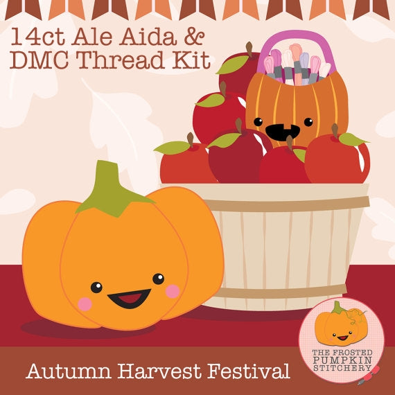 KIT - Autumn Harvest Festival - 14ct Aida & Threads
