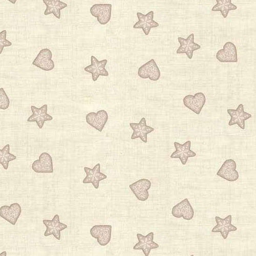 Scandi - Makower - Stars & Hearts Grey