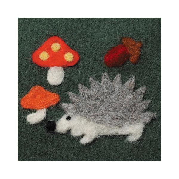 Clover Needle Felting Applique Mold - Hedgehog & Toadstools