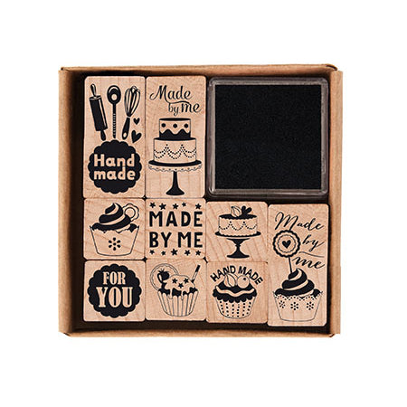 Made By Me Baking Wooden Stamp Set