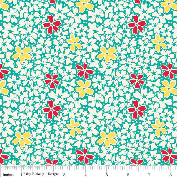 Hope Chest - Teal Floral -BOLT END