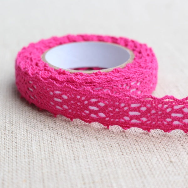 Crochet Lace Tape - Fuchsia