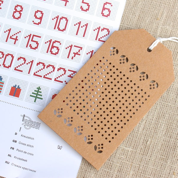 Kraft Embroidery Gift Tags