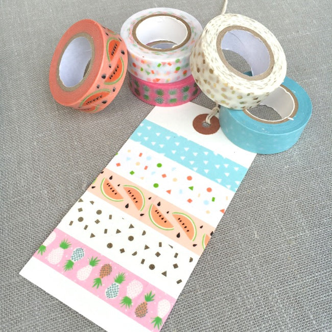 Tropical Spring Washi Tape Set - Pineapple