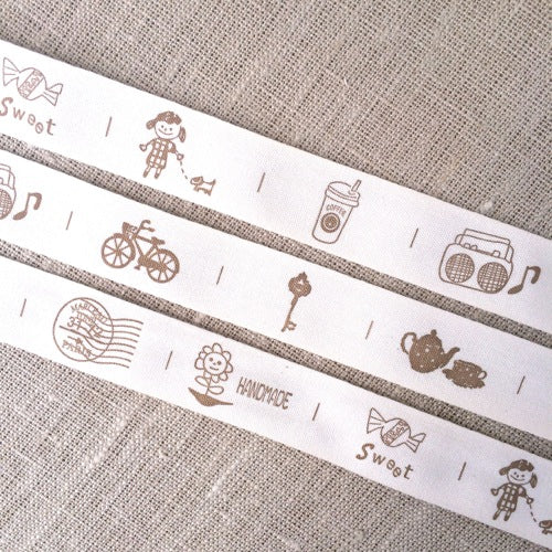 Bicycle Zakka Cotton Tape - 20mm