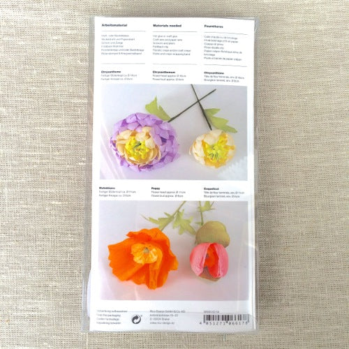 Paper Flowers Templates - Chrysanthemum & Poppy