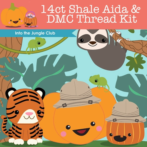 KIT - Into The Jungle - 14ct Aida & Threads