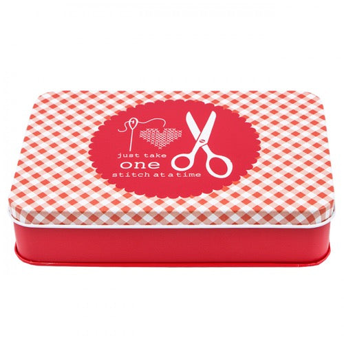 Lori Holt Sewing & Stationary Tin - Red