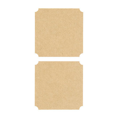 Large Square Kraft Stickers