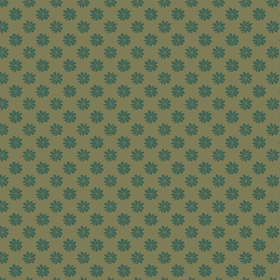 Liberty - The English Garden - Floral Dot Green