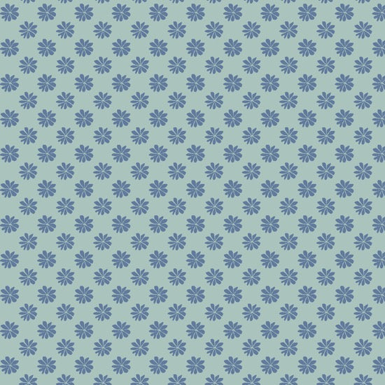 Liberty - The English Garden - Floral Dot Blue