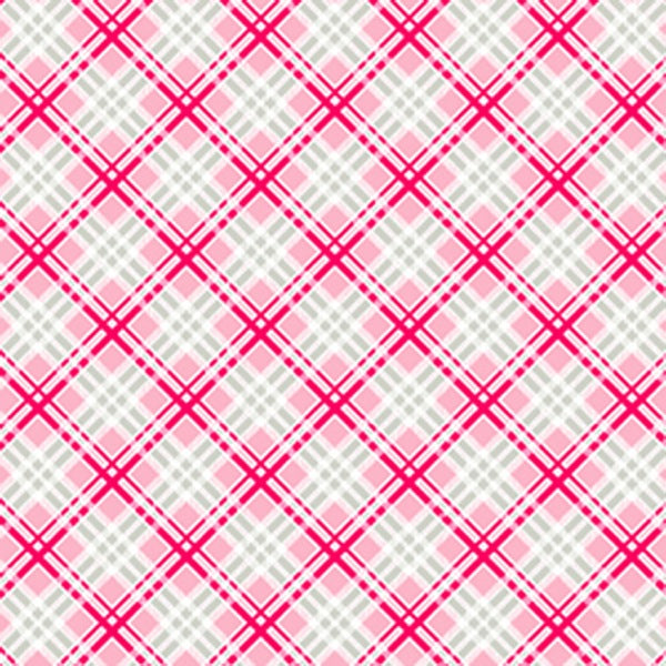 Pam Kitty Fog City - Coral Picnic Plaid