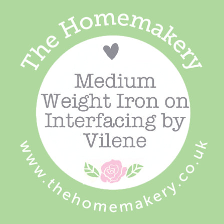 White Medium Weight Iron on Interfacing by Vilene