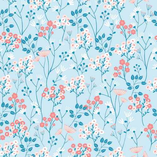 Millefleur - Dashwood Studio - Flower Sprig's Light Blue