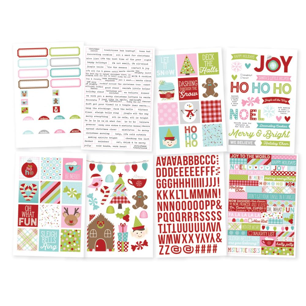 Simple Stories - Mistletoe Kisses Stickers