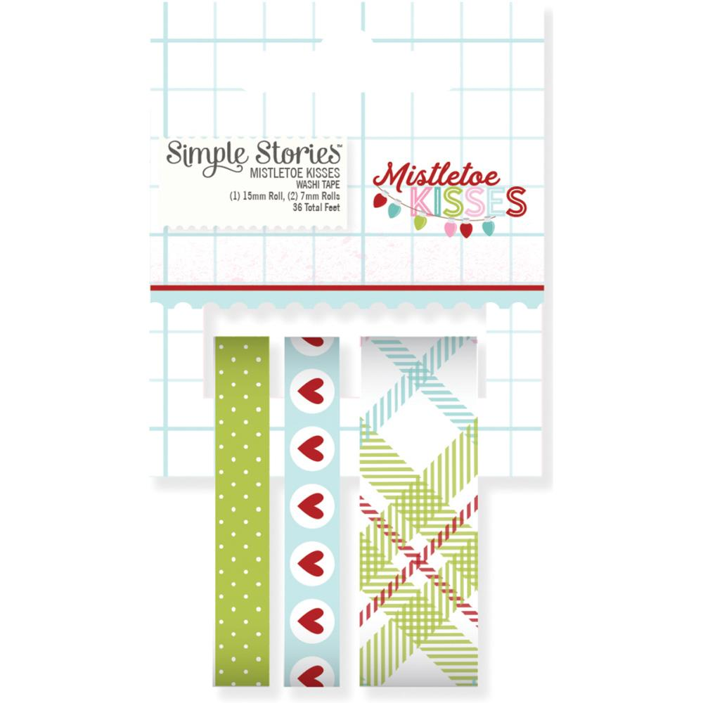 Simple Stories - Washi Tape - Mistletoe Kisses