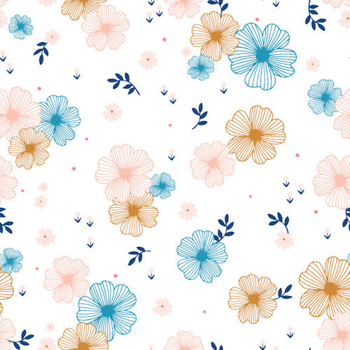 Millefleur - Dashwood Studio - Sketched Flowers White