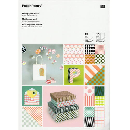 Bright Graphic Paper Pad