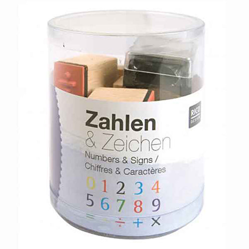 Numbers Wooden Stamp Set