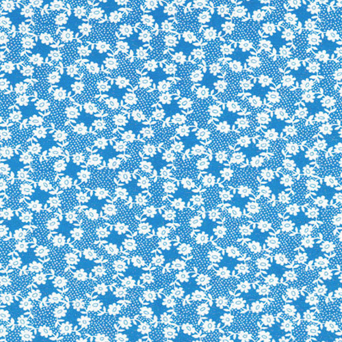Once Upon A Storybook - Floral on Blue