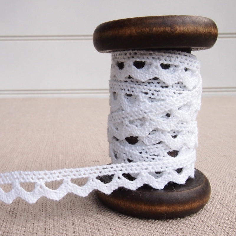 White Scalloped Crochet Lace Trim