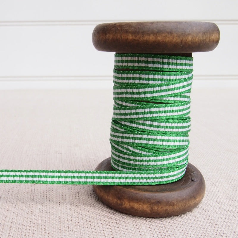 Green Gingham Ribbon - 5mm