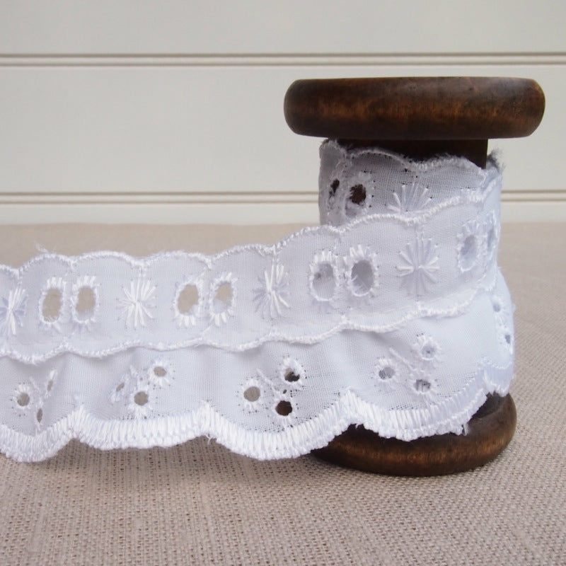 White Broderie Lace Frill