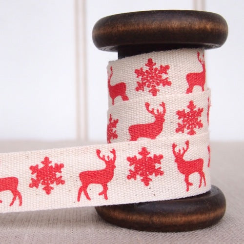 Scandi Christmas Zakka Cotton Tape - 20mm