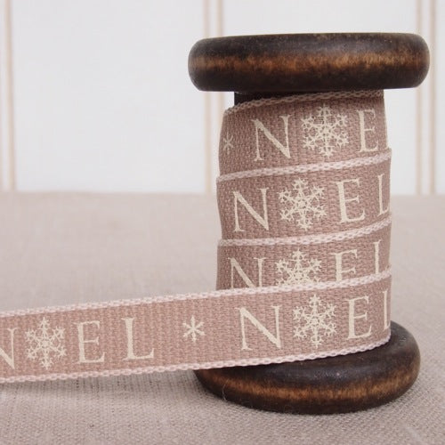 Cream Noel Ribbon - 15mm