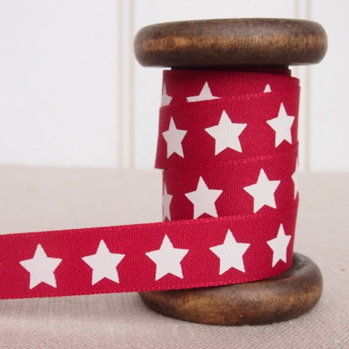 Red Star Ribbon - 15mm