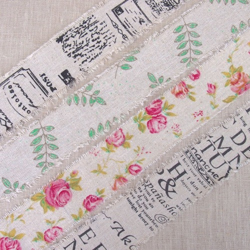 Scroll Burlap Ribbon - 50mm