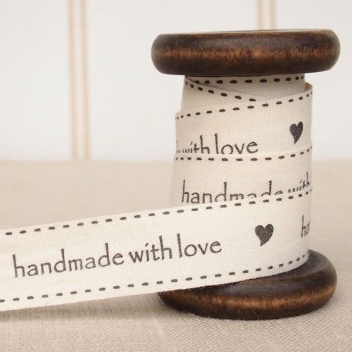 May Arts Handmade With Love Cotton Tape - 2cm