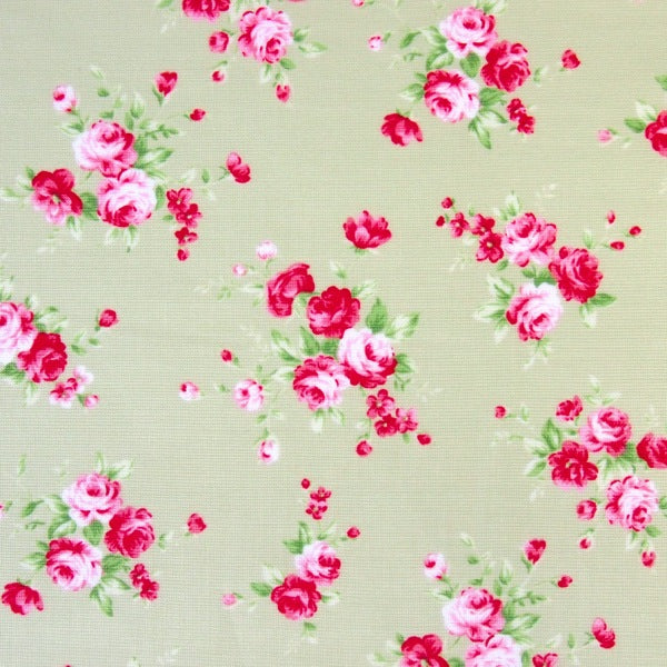 Lecien - Floral Collection - Green Medium Rose