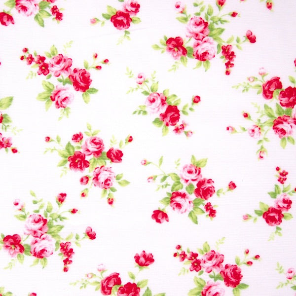 Lecien - Floral Collection - White Medium Rose