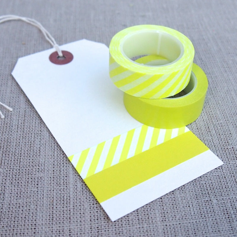 Neon Yellow Washi Tape Set