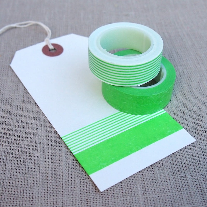 Neon Green Washi Tape Set