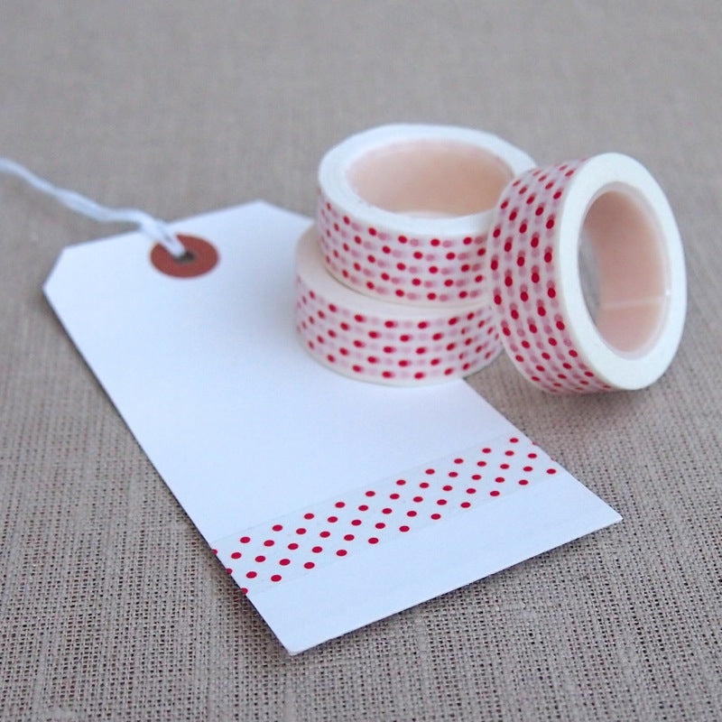 Coral Polka Dot Washi Tape