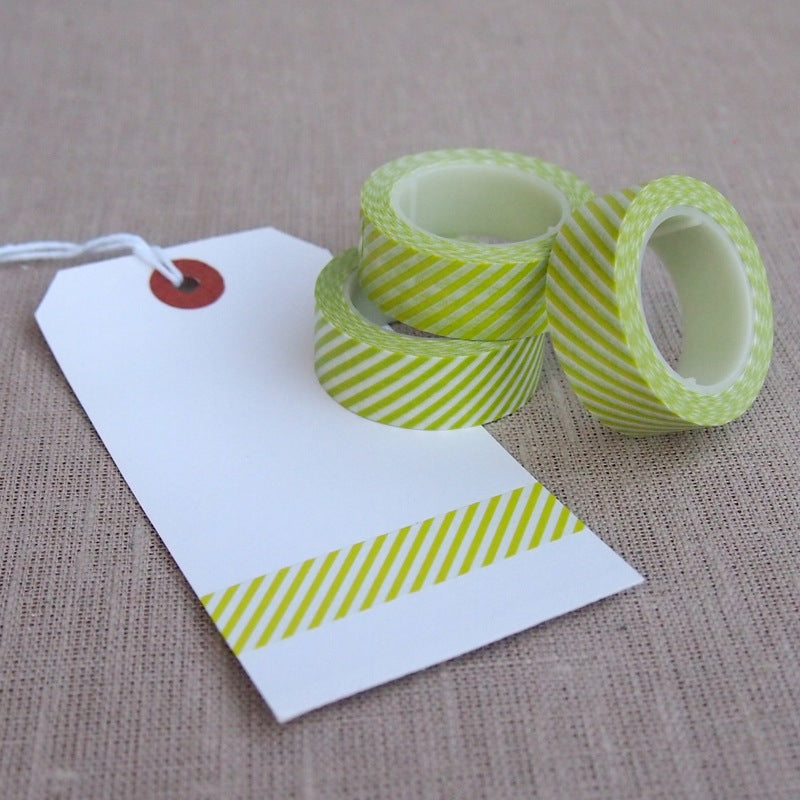 Chartreuse Stripe Washi Tape