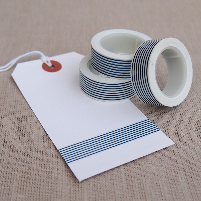 Dark Blue Stripe Washi Tape