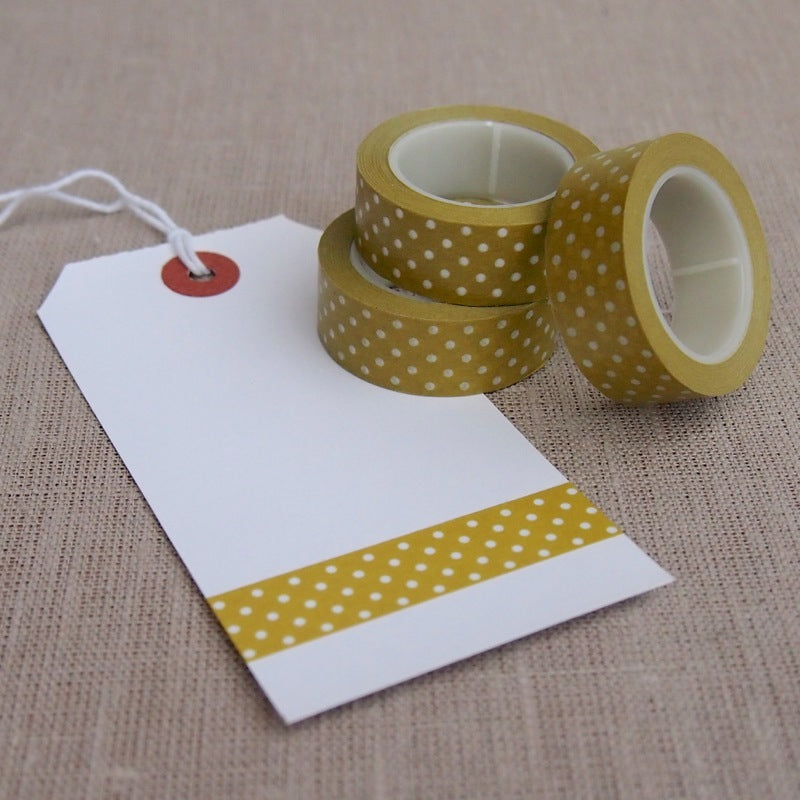 Olive Green Polka Dot Washi Tape