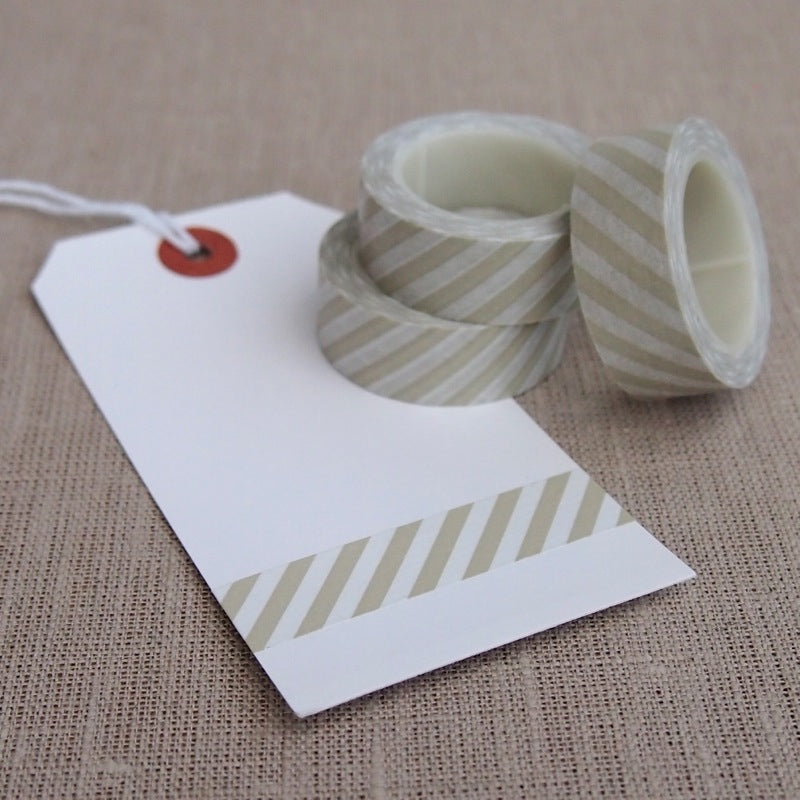Light Grey Stripe Washi Tape