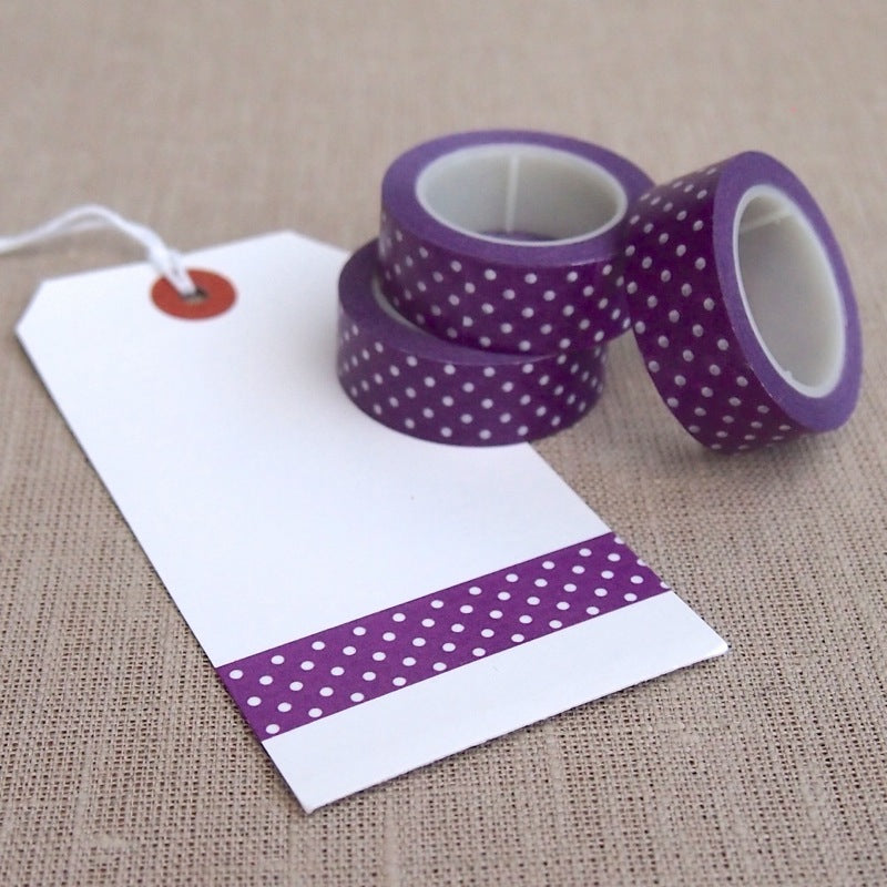Purple Polka Dot Washi Tape