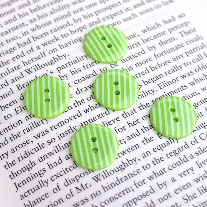 Green Stripe Buttons