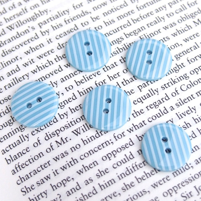 Blue Stripe Buttons