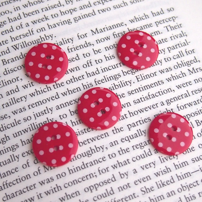 Red Polka Dot Buttons