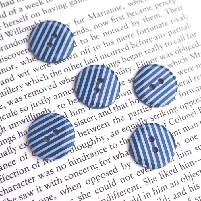 Navy Stripe Buttons